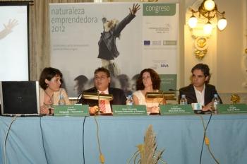Jimena Delgado-Taramona (SPEGC), José Eduardo Ramos-Arboniés y Jiménez (CCE), Estefanía Morcillo Dorta (SCE), Sergio Suárez (mprende.es)