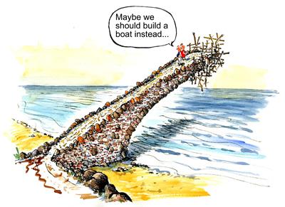 """""""Tal vez deberíamos construir un barco en su lugar..."""""""