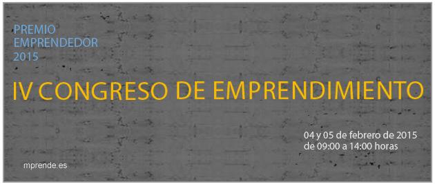 """IV Congreso de Emprendimiento CCE 2015: """"Crea tu futuro"""""""